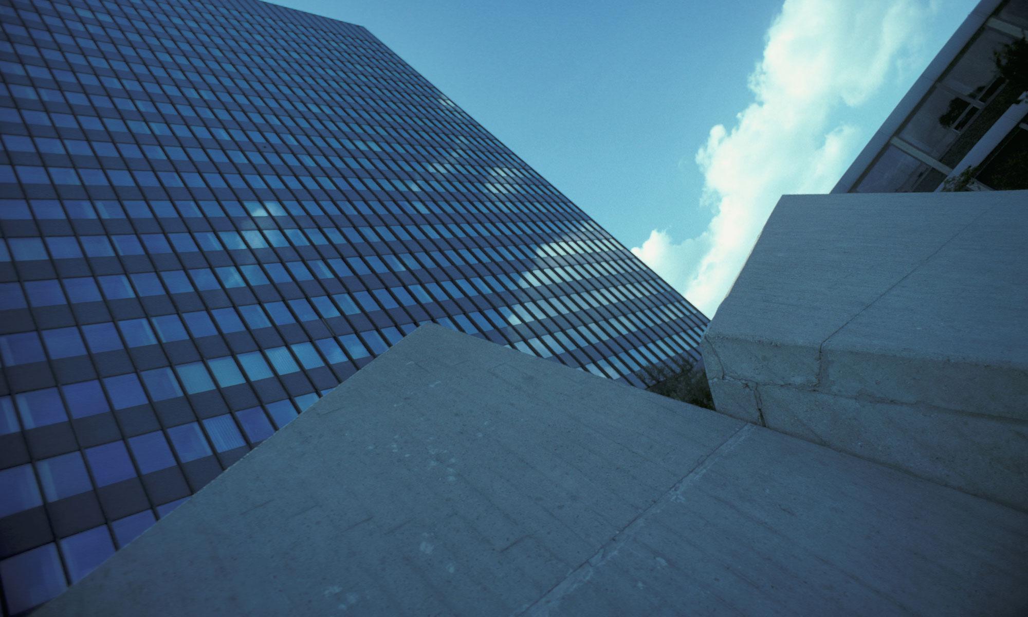 Architekturfotografie großes Gebäude